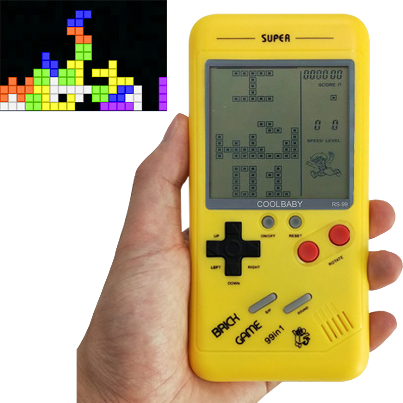 CoolBaby Handheld Game Console Classic Tetris Games Mini Game Player Gift For Kids