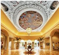 Duvar kağıdı 3d mural üç boyutlu el-boyalı tavan mural boyama oval kubbe oturma odası için duvar kağıtları