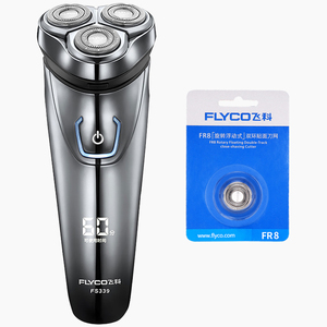 Image 1 - Flyco IPX7 Waterproof 1 Hour Charge Washable Rechargable Rotary Shaver For Men Electric Shaving Machine FS339 C FR8 Cutter Head