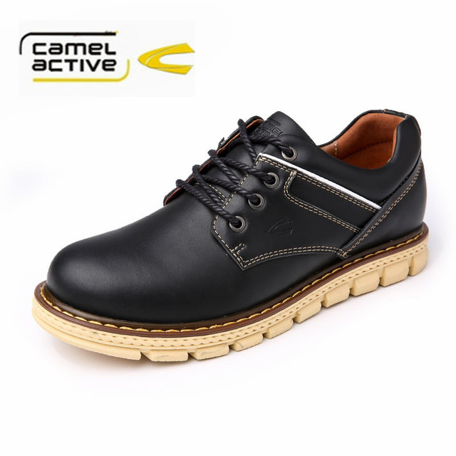 Camel active Genuine Leather Men Shoes Leather Falts Shoes Lace Up Round  toe Casual Shoes zapatillas