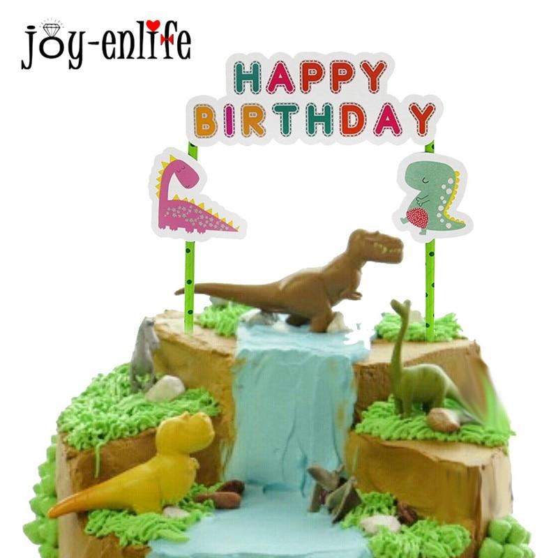 Cake topper Dinosaur 11pcs Cake Insert Card Wedding Birthday Party Supply Decor