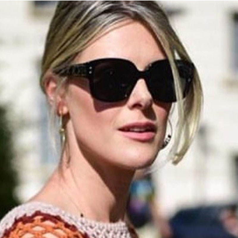 FEISHINI Qualidade Quadrado Preto Óculos De Sol Das Mulheres Marca de Luxo  Designer Retro Óculos de 4e1fbfb0f0
