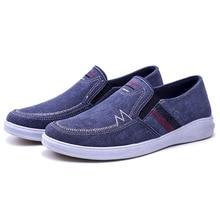 YeddaMavis Blue Canvas Shoes Men 2019 Spring New Driving Breathable Mens Old Beijing Zapatos De Hombre