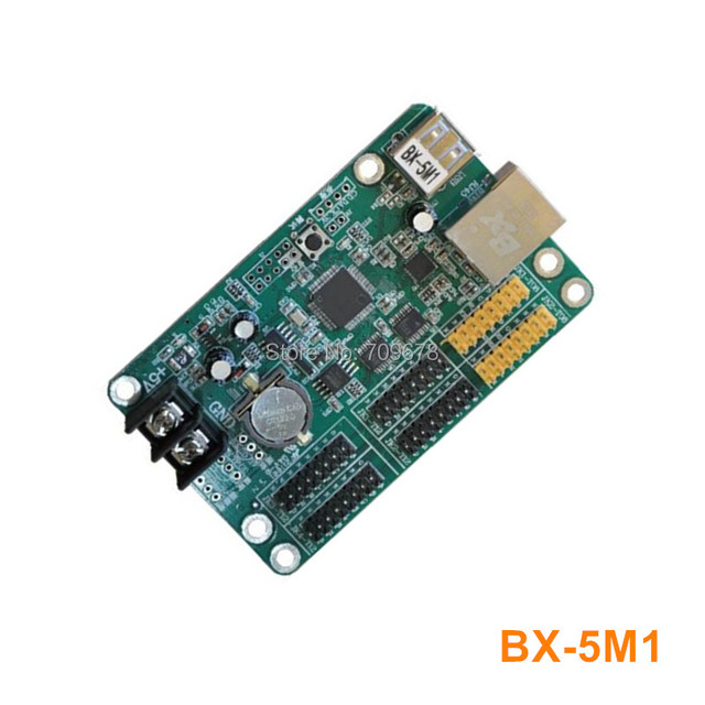 Onbon BX-5M1 (Ethernet+USB) LED Controller Card For Single Color and Dual Color LED Message Display