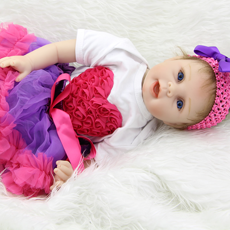 NPK Collection Reborn Silicone Baby Dolls Girl Cute Newborn Babies So Truly Kids Birthday Xmas Gift Free Magnet Pacifier Dummy hot sale 2016 npk 22 inch reborn baby doll lovely soft silicone newborn girl dolls as birthday christmas gifts free pacifier