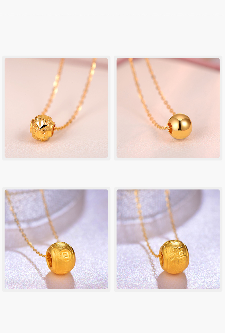 2cebe7fcb6ead 24K Pure Gold charm Real AU 999 Solid Gold beads pendant Beautiful Bead  Upscale Trendy Classic Fine Jewelry Hot Sell New 2018
