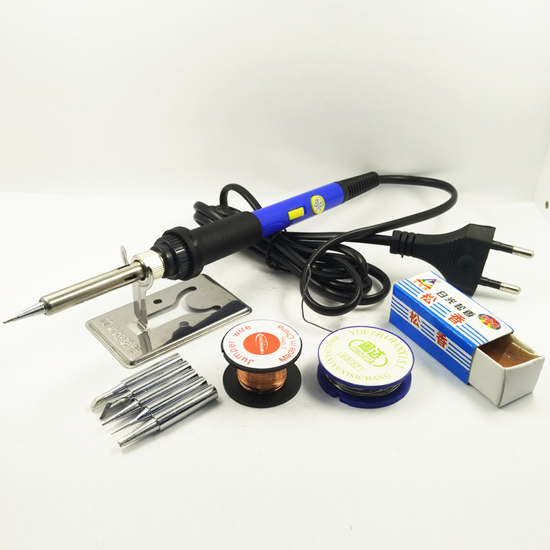 DGKS 60W Power Switch Adjustable Temperature Electric Soldering Iron Set Welding Solder Station Heat Pencil Repair 10ps Tool Kit 936 soldering station 220v 60 65w electric soldering iron for solder adjustable machine make seals tin wire solder tip