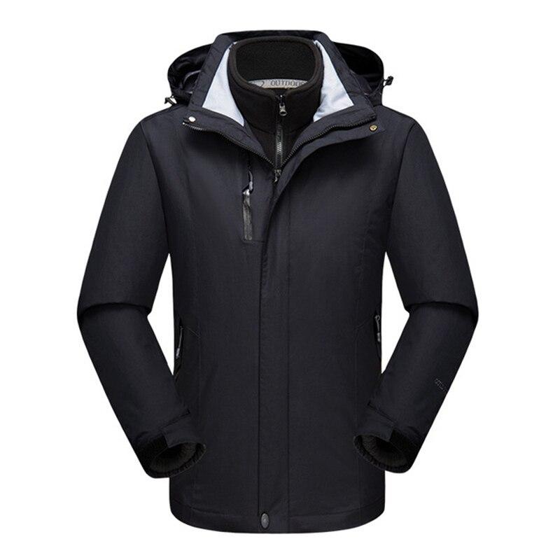 Hommes Camping pluie randonnée veste mâle coupe-vent à capuche chaud veste imperméable soleil Protection Uv Sports de plein air manteau AA12060