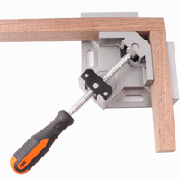 Single Handle 90 Degree Aluminum Angle Clip Woodworking Aquarium Frame Gussets Tool Swing Jaw Corner Clamp