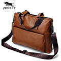Cross ox nueva llegada de brown genuine leather satchel bolsos para hombres bolsos de hombro de los hombres bolsa de ordenador portátil maletín hombres hb554m