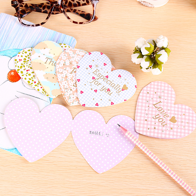 5pcs Love Heart Thanks Greeting Card Wishcard Envelope For DIY Festival Greet Cards Gift Stationery Supplies