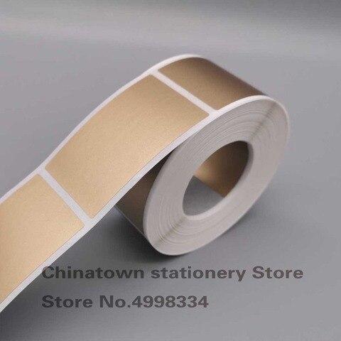 500 pces riscar fora da etiqueta 35x58mm ouro prata cor em branco para cartao capa