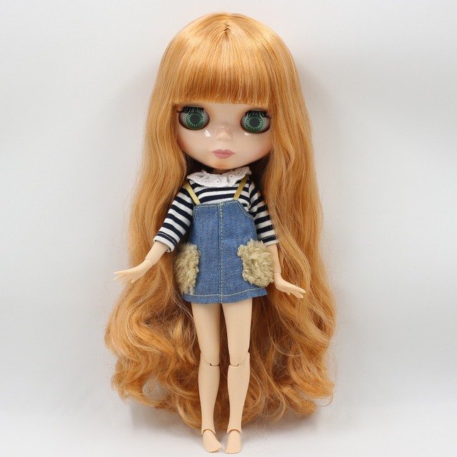 ICY Neo Blythe Doll Golden Orange Hair Jointed Body