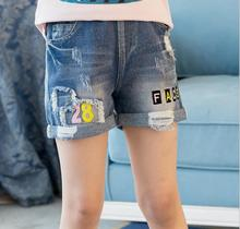 Childrens pants 2018 summer new girl trousers, big boy girl, Korean version, casual jeans shorts
