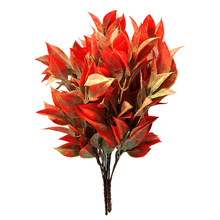 4PCS/Set DIY Indoor Leaves Bouquets Shrubs Bundles Fake Flower Summer Office Outdoor Artificial Plants Table Centerpieces Bonsai(China)