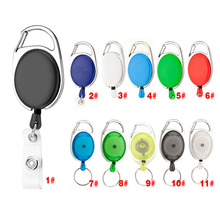 Mulitifunctional Retractable Pull Keychain Rings Yoyo Ski Pass ID Badge Holder Name Tag Belt Clip Recoil Key Ring Chain Buckle