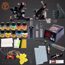 Professional Tattoo Kit  10 Colors Tattoo Ink Sets Black Power Supply Needles Permanent Make Up