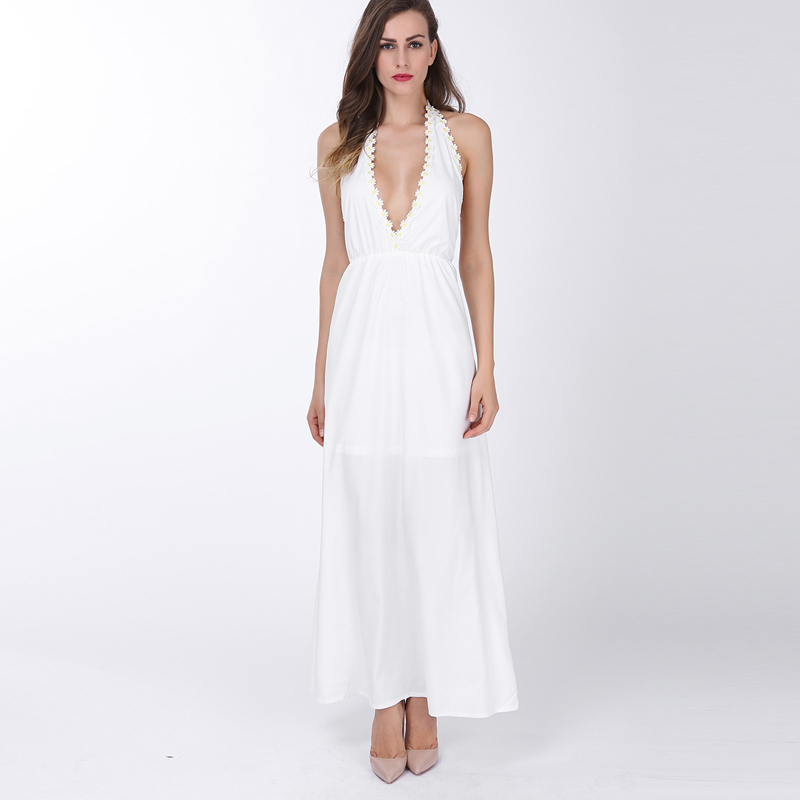 Popular White Maxi Dress-Buy Cheap White Maxi Dress lots from ...