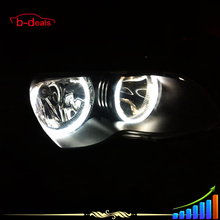 131mm + 146mm DEL Ángulo de CCFL Eyes de Halo Anillos Para BMW E46 No proyector E46 Coupe 1999-2003 E46 318i 1999 E46 Sedan pre-facelift