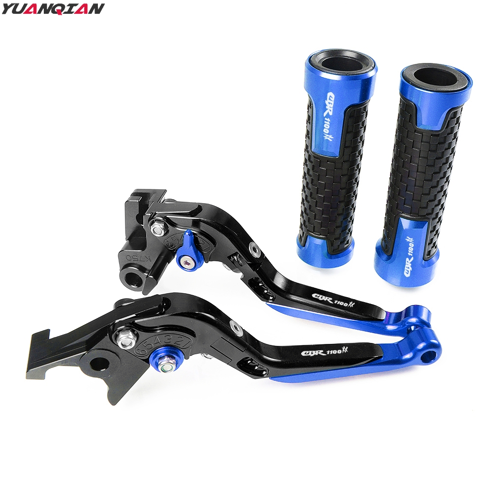 Image 3 - New Motorcycle Adjustable Foldable Extending Brake Clutch Lever Handle Grips Set For Honda CBR1100XX CBR 1100 XX 1997 2007-in Covers & Ornamental Mouldings from Automobiles & Motorcycles