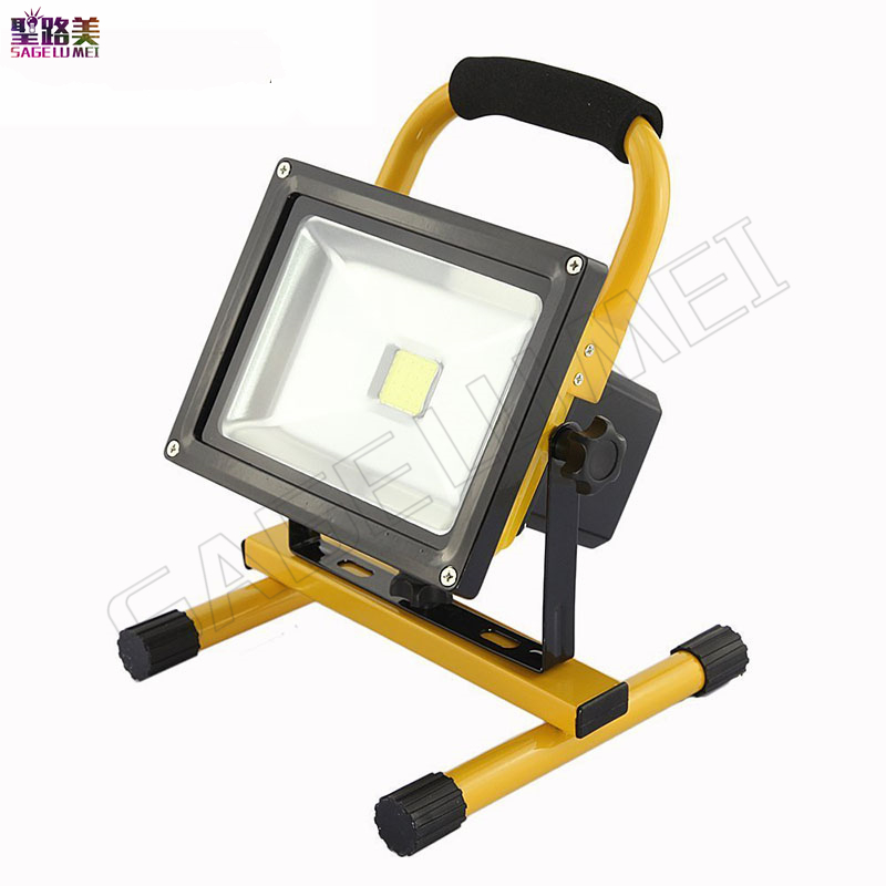 1pcs 30w led flood lighting rechargeable waterproof outdoor Led emergency lamp Portable Spotlight battery powered led spot lamp