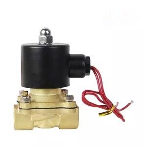 """Image 1 - Freies Verschiffen Heiße Neue 1/4 """", 1/8"""", 1/2 """", 3/4"""", 1 """", 2"""", AC220V, DC12V/24 V Elektrisches Magnetventil Pneumatische Ventil für Wasser Öl Luft Gas"""