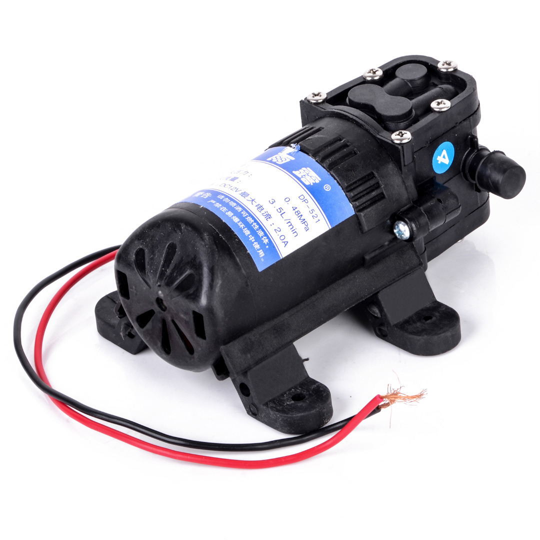 Durable DC 12V 70PSI 3.5L/min Agricultural Electric Water Pump Black Micro High Pressure Diaphragm Water Sprayer Car Wash