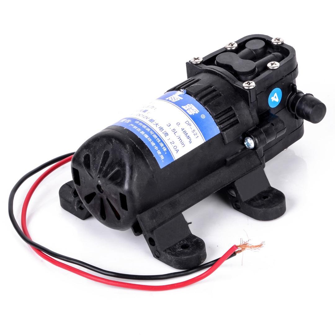 Durable DC 12V 70PSI 3.5L/min Agricultural Electric Water Pump Black Micro High Pressure Diaphragm Water Sprayer Car Wash