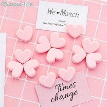 15PCS Cute Pink Decorative Japanese Girl Heart Clip Photo Data Acceptance Sealing DIY Gift Wall