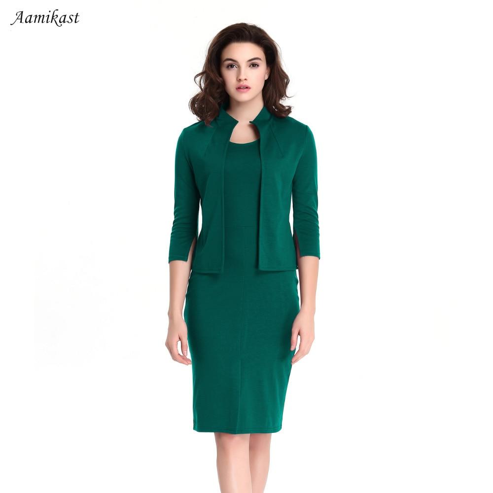 2018 winterjurk Dames elegante kraag Colorblock Optische illusie Faux Twinset Slijt naar werk Office schede Bodycon-jurk