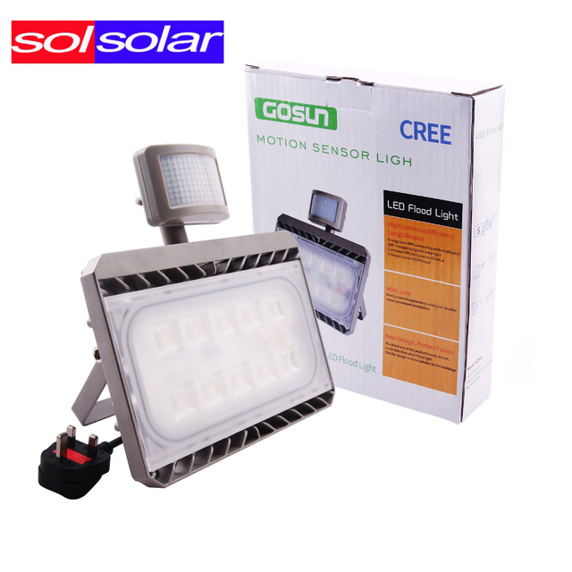 Cree Led Pir Floodlight Motion Sensor Flood Light 30w 50w Ac 100 240v Outdoor Waterproof