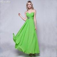 ZJ0006 2018 Long Cheap Mint Green Bridesmaid Dresses Under 50 Floor Length Chiffon A Line Size