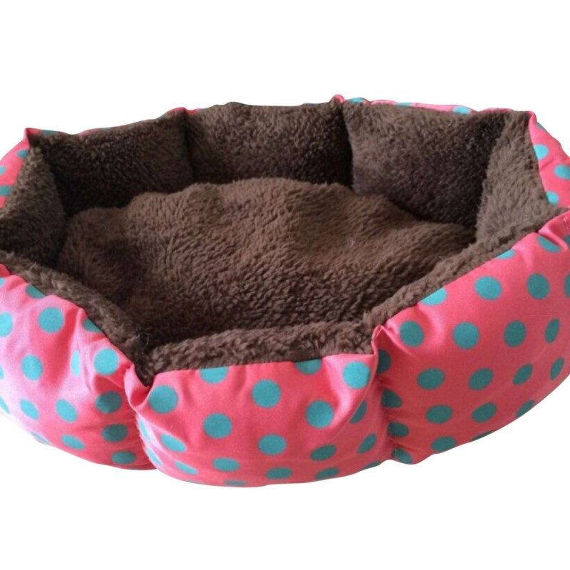 Colorful Leopard Cat Beds Mats Solid Print Pet Cat Dog Bed Pink Blue Yellowish Brown Deep Pink Size S M L Xl Puppy House