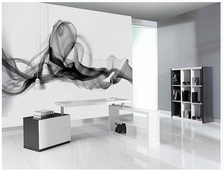Niestandardowe 3D fototapety Dymu chmury streszczenie artystyczny fototapeta tapeta nowoczesna minimalistyczna sypialnia sofa TV obraz papier 10