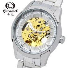 Gucamel Армия водонепроницаемый 30 М высококлассные мужские часы бизнес моды взрыв моделей полые автоматические механические часы