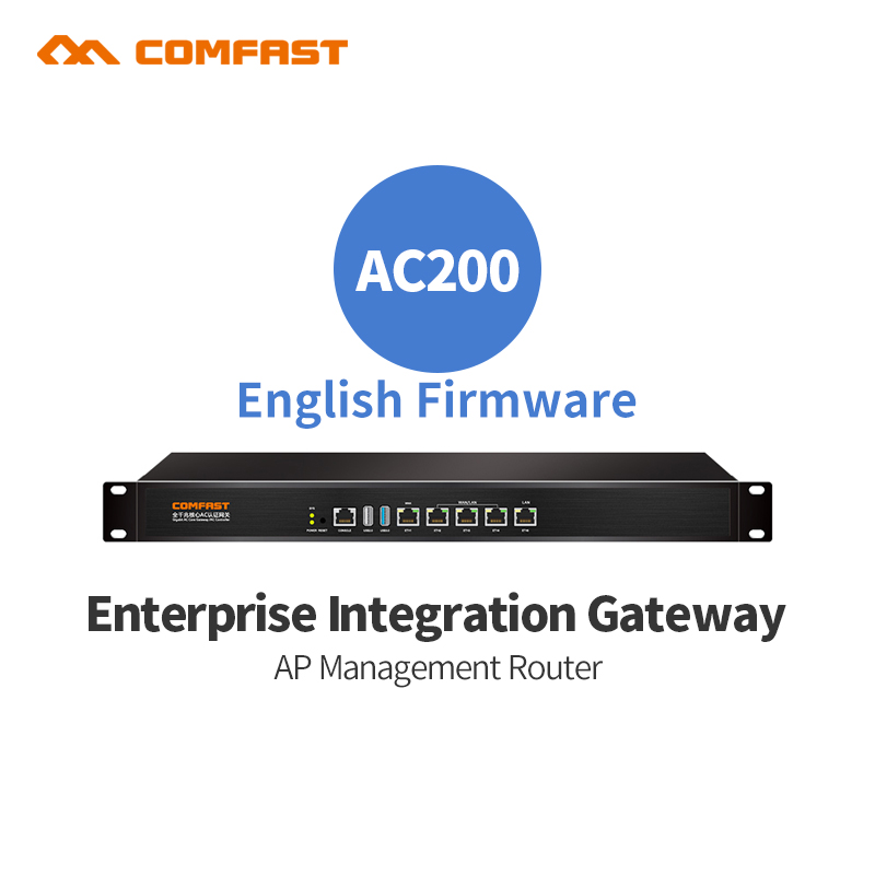 Wifi project manager Comfast AC200 Full Gigabit Ac Authentication Gateway Routing for Multi Wan access Wireless Roaming Gaterway