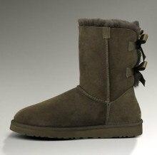 2016 Top Quality winter Women Men Australia Classic Snow Boots Winter Warm Leather Women Flats Warm Shoes Genuine Leather Boots