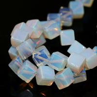 Free Shipping Fashion Women White Opal Jasper Cube Square Shape Loose Beads 8 8mm High Quality