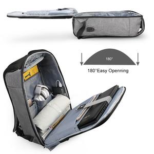 "Image 2 - Tigernu חדש מזדמן באיכות גבוהה עמיד למים גברים תרמיל 15.6 ""מחשב נייד אנטי גניבה עם USB זכר מוצ ילאס אופנה תרמילי בית ספר"