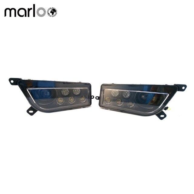 Marloo ATV Polaris General 1000 Led Headlighs , Polaris RZR XP1000 / Turbo LED Replacement Headlight High Low Beam Kit