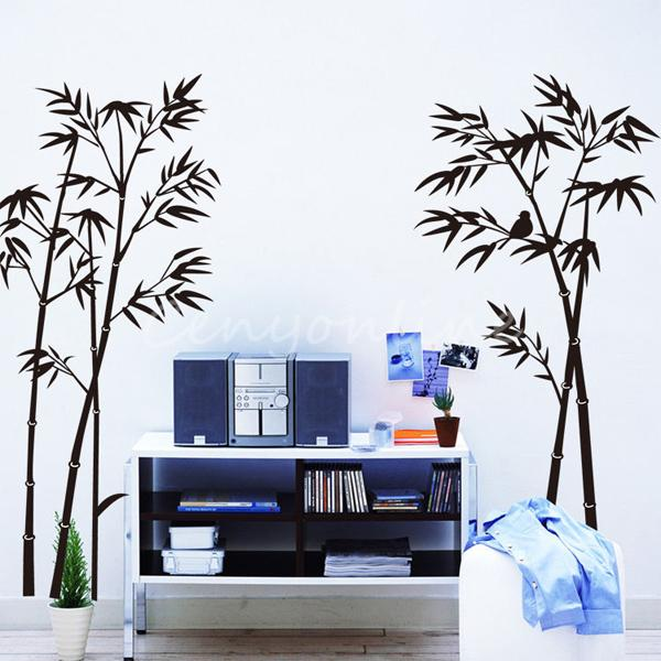 Best Promotion Beautiful Design Bamboo Mural Removable Craft Art Black Wall Sticker Decal Home Decor Livingroom Decoration Home Decor Decoration Designlivingroom Decoration Aliexpress