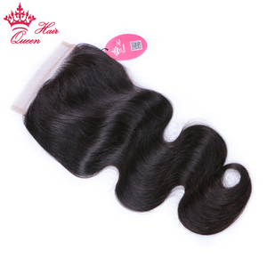 Image 2 - Queen productos para el cabello con cierre de encaje, pieza libre, cabello virgen brasileño, cuerpo ondulado, 100%, cabello humano, Color Natural, cierre de gran tamaño