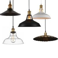 2017 Industrial Retro Style Art LED Pendant Light Black White Edison Light Bulb Pendant Lamp Hanging