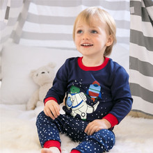 Cute Dinosaur Printed Soft Cotton Baby Boy's Pajamas