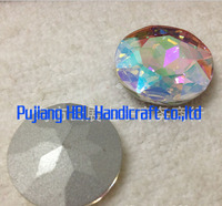 12pcs/bag 35mm White AB Round Crystal Sew on Stone Shining Beads Costumes Decoration Accessary