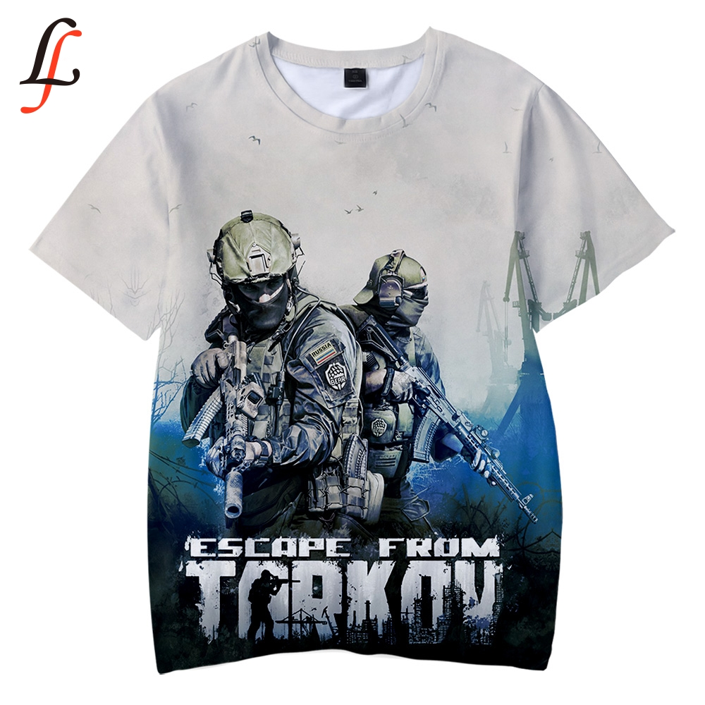 Escape from Tarkov 3D Kids T-shirt Soft Round Collar T shirt Kpop Casual Boys and Girls Love Fashion New children's tee shirt