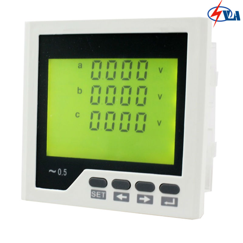 3UIF3Y 96*96mm three-phase ac volt and current lcd digital  industrial usage combined meter AC220V d6 4o panel size 72 72 low price and high quality ac single phase led digital energy meter for industrial usage