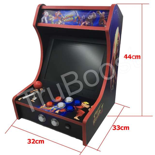 Mini Bartop Arcade Joystick Game Machine Cabinet Raspberry Pi B+ Retro Game  Console 64GB