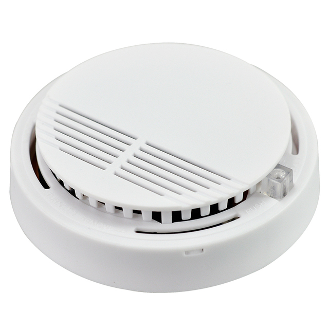 High Sensitive Photoelectric Home Security System Cordless Wireless Smoke Detector Fire Alarm Equipment