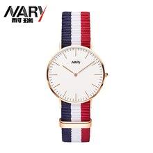 12 Correa de Nylon de Color Marca Para Mujer Relojes de Lujo Reloj de Moda Femenina reloj de Cuarzo Reloj Ocasional Relojes Reloj Mujer Montre Femme